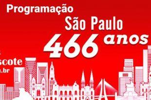 Programação do Aniversário de 466 anos de São Paulo